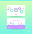 business card design template with bright color vector image vector image