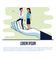 business people poster vector image vector image