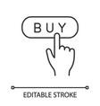 buy button linear icon vector image