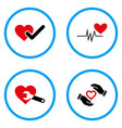 cardiology rounded icons vector image