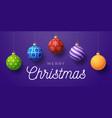 christmas horizontal promo banner holiday vector image