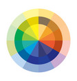 chromatic circle vector image vector image