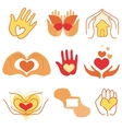 collection of love signs vector image vector image