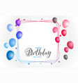 colorful happy birthday background with text space vector image