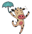 Dancing cow vector image