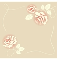 delicate beige card with roses vector image vector image