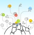Digital marketing concept via modern digital vector image vector image