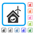 eco house building framed icon vector image vector image