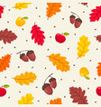 falling leaves isolated vector image vector image