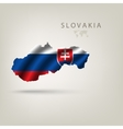 Flag of SLOVAKIA as a country with a shadow vector image