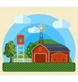 Flat Farm Landscape vector image vector image