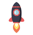 Flying space rocket vector image vector image