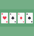 four aces playing cards icon vector image vector image