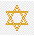 gold david star icon realistic style vector image vector image