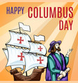 great columbus day concept banner cartoon style vector image vector image