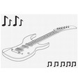 guitar on a white vector image vector image