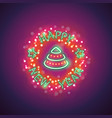 happy new year neon with magic vector image vector image