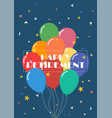 happy retirement with balloons vector image vector image