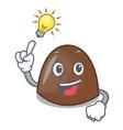 have an idea chocolate candies mascot cartoon vector image