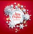 holiday winter design vector image vector image
