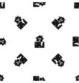 house after an earthquake pattern seamless black vector image vector image