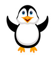 isolated cute penguin vector image vector image