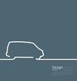 Laconic Design Car Minibus Cleanness Line vector image