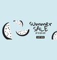 modern summer sale banner with dotted vector image vector image