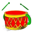 Music drum vector image vector image