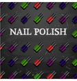 nail polish decorative cosmetics make up accessori vector image vector image