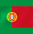 national flag portugal for sports competition vector image vector image