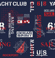 nautical style marine sailing elements wallpaper vector image vector image