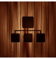 Network icon Wooden texture vector image vector image