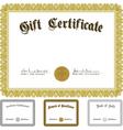ornate award certificate set