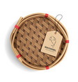 packaging mackerel basket product realistic vector image
