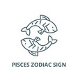 pisces zodiac sign line icon linear vector image vector image