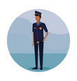 police officer job worker vector image vector image