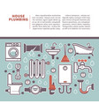 professional house plumbing homepage vector image vector image