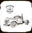 rat rod truck diesel punk vector image vector image