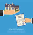 real estate insurance concept vector image vector image