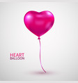 realistic heart balloon pink heart glossy balloon vector image