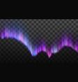 realistic northern polaris aurora light vector image vector image