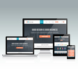 Responsive Website Design vector image vector image