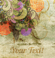 Rustic Floral Background vector image vector image