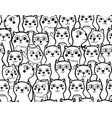 seamless monochrome pattern with cute and funny vector image vector image