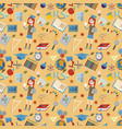 seamless pattern 1 flat on school theme education vector image