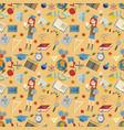 seamless pattern 1 flat on school theme education vector image