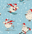 Seamless pattern of funny New Year sheep vector image