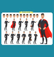 set of businessmen presenting in various action vector image vector image