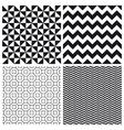 set patterns 3 vector image vector image